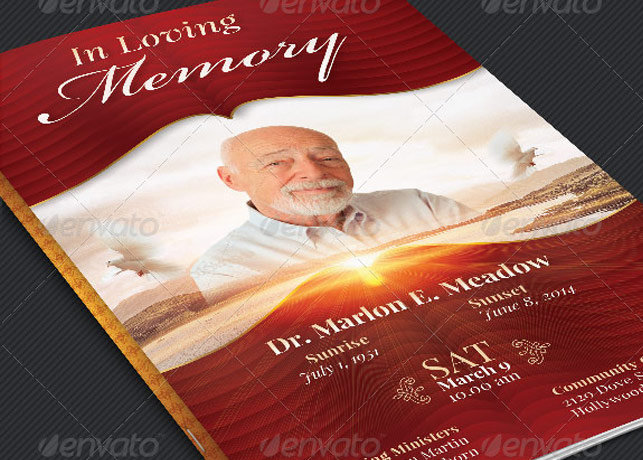 Loving Memory Funeral Program Template Inspiks Market