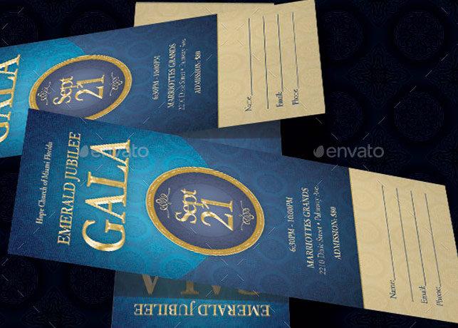 Anniversary Banquet Ticket Template