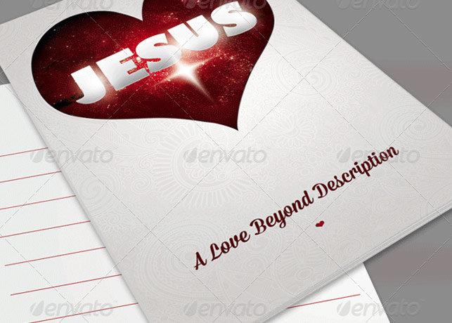 A Love Beyond Description Church Bulletin Template