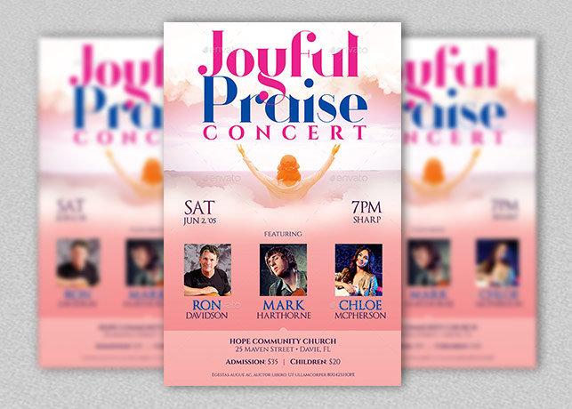 Joyful Praise Concert Flyer Poster Template