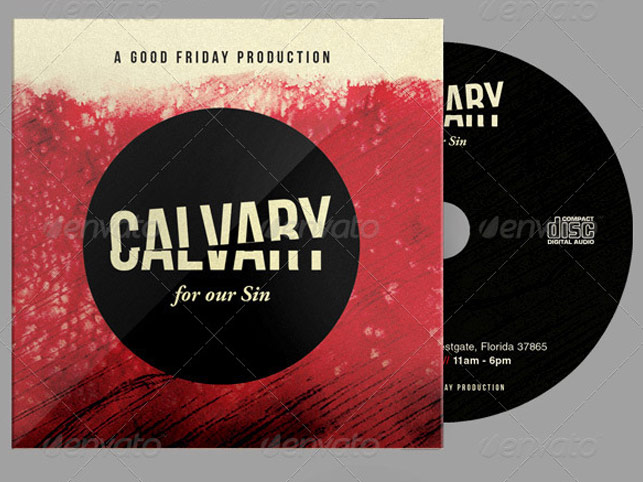 Calvary for Our Sins CD Artwork Template