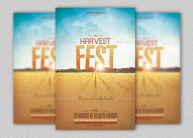 Harvest Poster Template