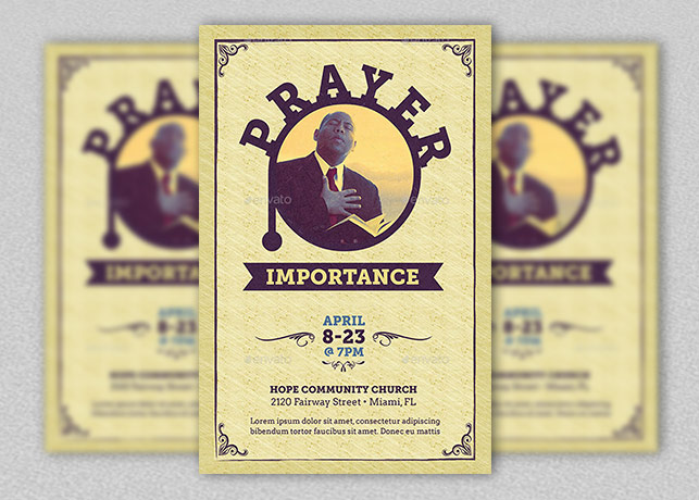 Prayer Importance Flyer and Poster Template