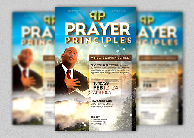 Prayer Principles Flyer and Poster Template