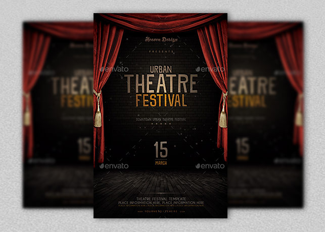 Theatre Flyer Template Inspiks Market