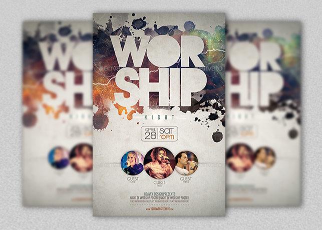 Worship Poster Template