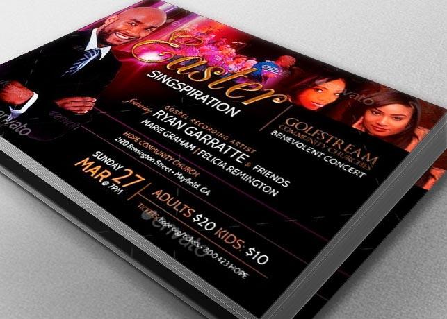 Easter Concert Flyer Template