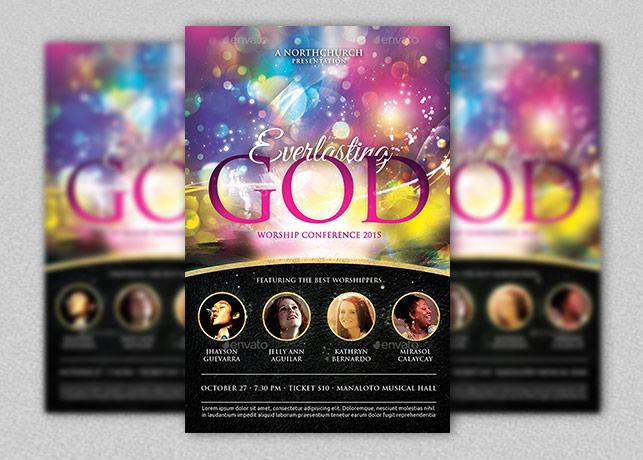 Everlasting God Church Flyer