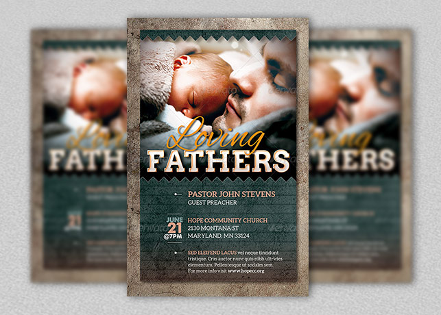 Loving Fathers Church Flyer Template