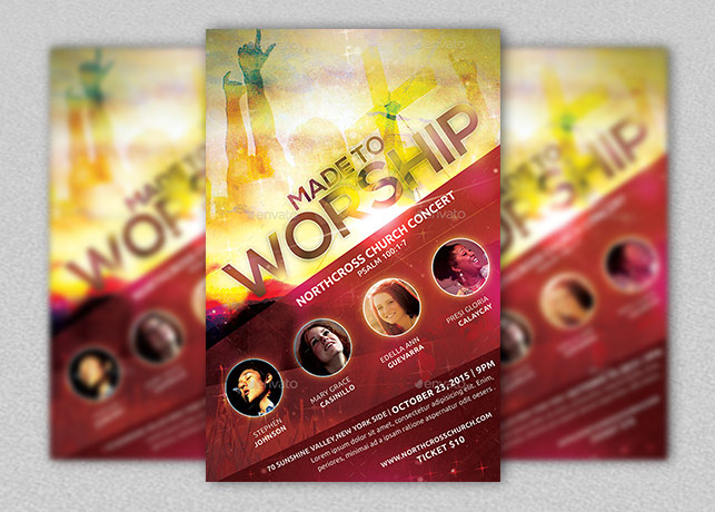 Made to Worship Church Flyer
