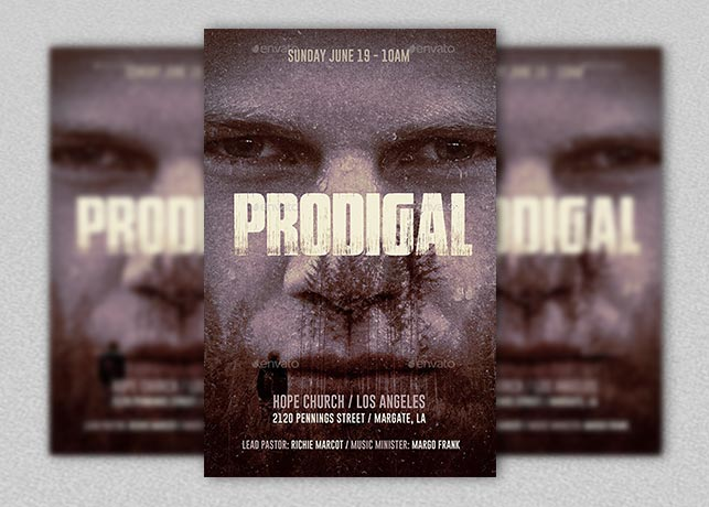 Prodigal Church Flyer Plus Poster Template