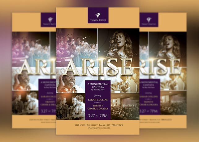 Arise Cantata Flyer Plus Poster Template