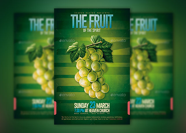 Fruit of The Spirit Poster Template