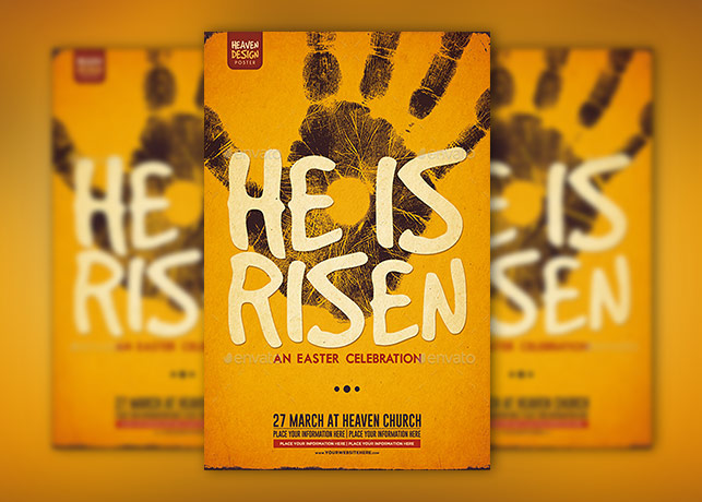 He Is Risen Poster Template