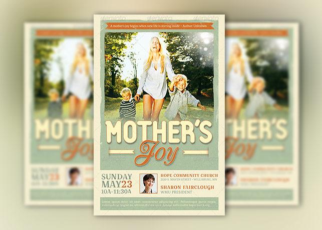 Mothers Joy Church Flyer Template