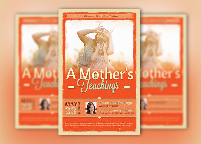 Mothers Teachings Church Flyer Template