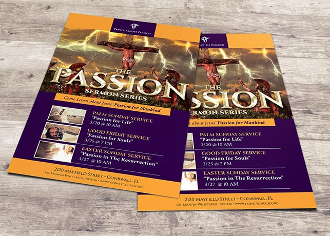 Passion Flyer Plus Poster Photoshop Template