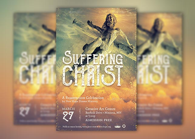 Suffering Christ Flyer and Poster Template