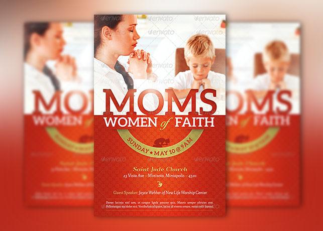 Women of Faith Church Flyer Photoshop Template