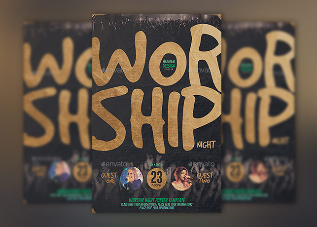Worship Night Poster Template