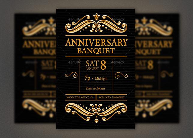Anniversary Banquet Flyer Photoshop Template