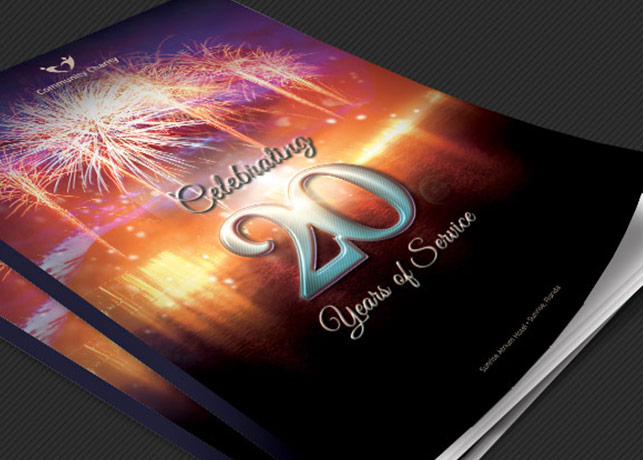 Charity Anniversary Program Cover Template