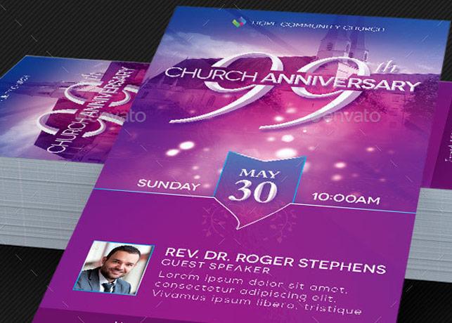 Church Celebration Rack Card – Photoshop