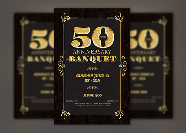 Classy Anniversary Flyer Photoshop Template