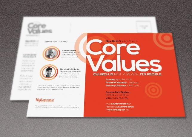 Core Values Church Flyer Template