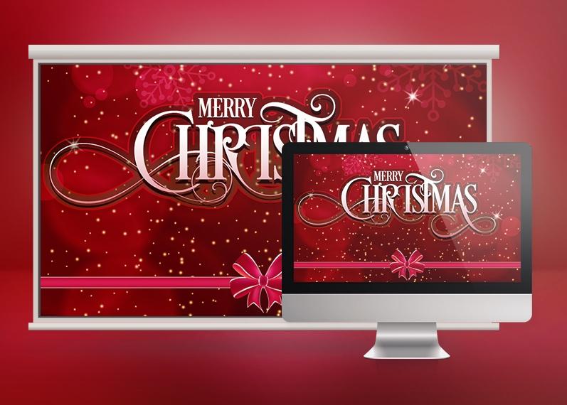 Crimson Merry Christmas Slide