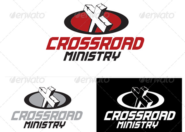 Crossroad Ministry Logo Template
