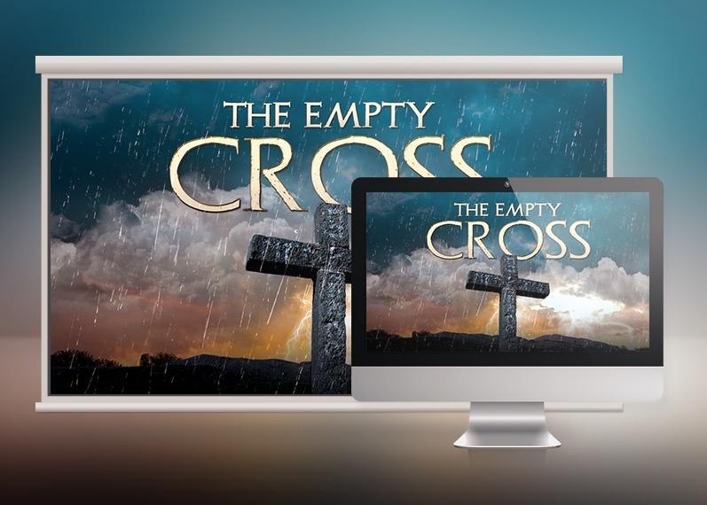 Empty Cross Church Slide