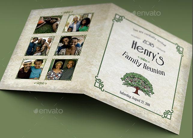 Family Reunion Invitation Card Template