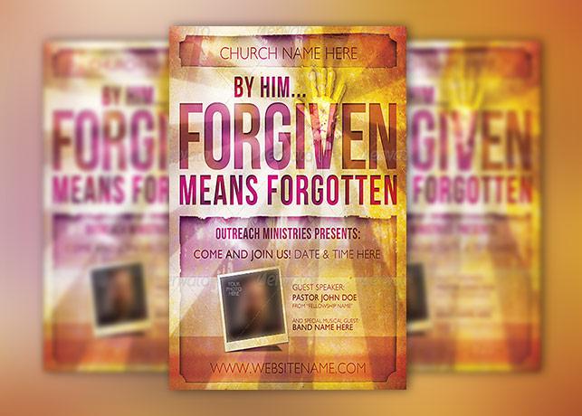 Forgiven Church Flyer Template