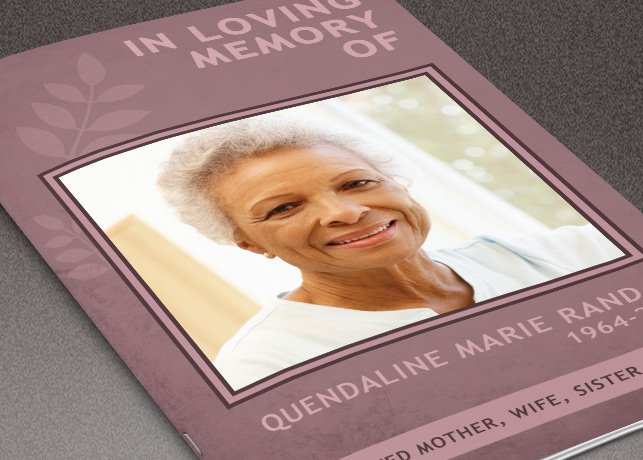 Memory of You Funeral Program Template