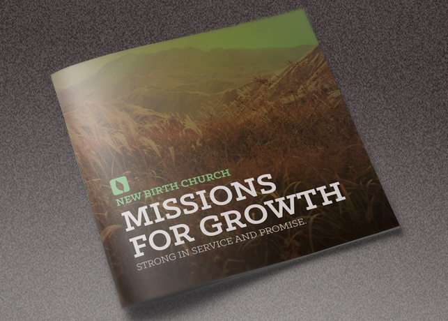 Missions for Growth Church Brochure Template