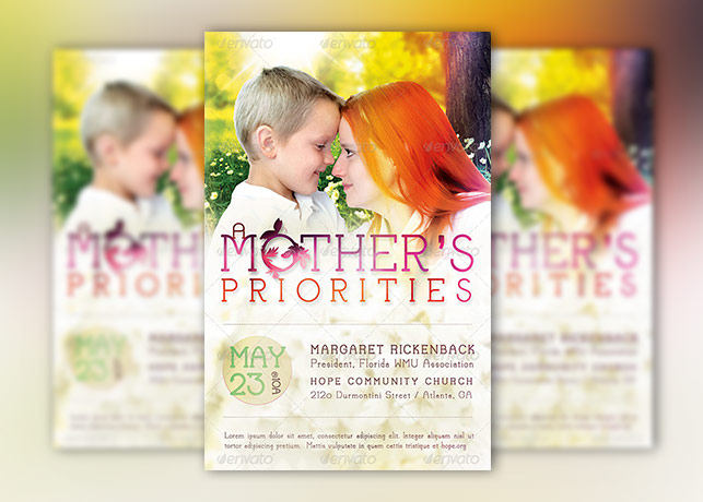 Mothers Priority Church Flyer Template