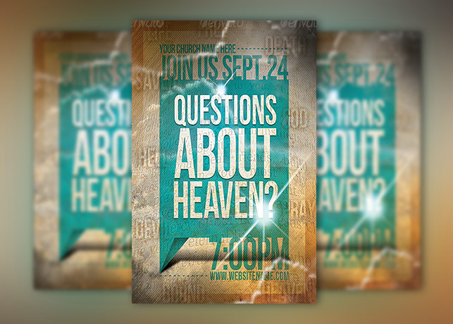 Question's About Heaven Flyer Template