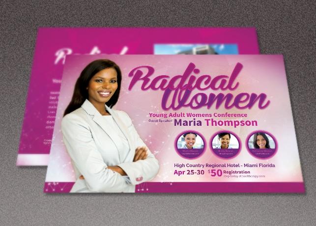 Radical Women Church Flyer Template
