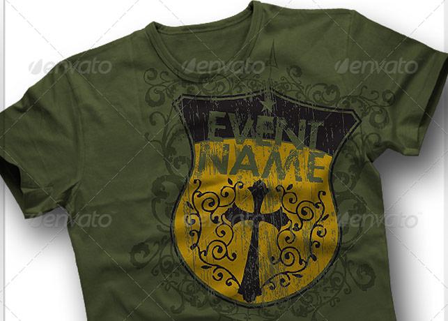 Strong Shield T-Shirt Art