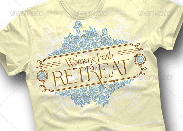 Women Retreat T-Shirt Art