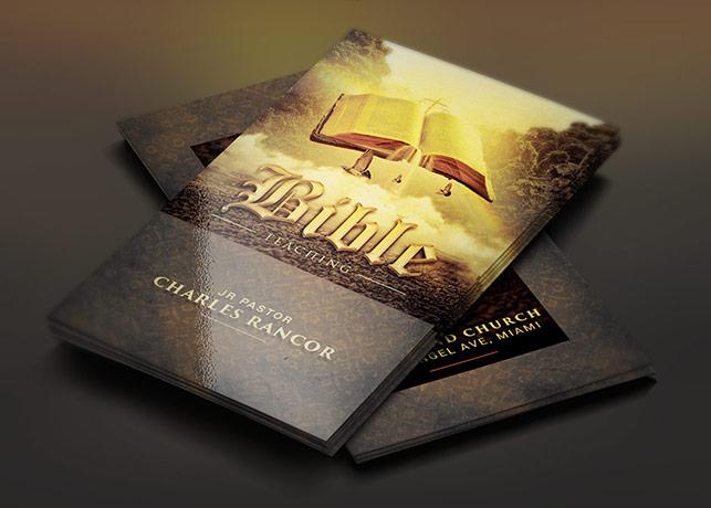 Bible Teacher Church Business Card Template