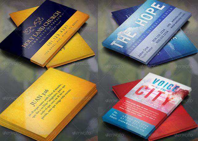 Church Business Card Template Bundle