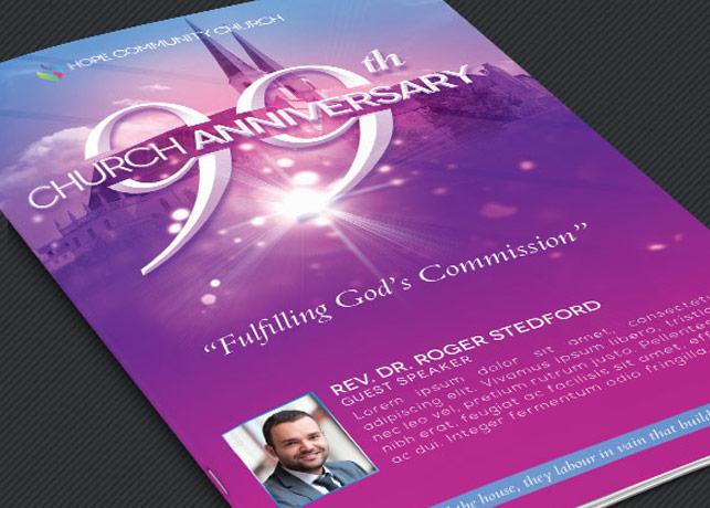 Church Celebration Program Template
