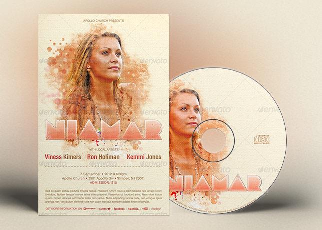 Church Concert Flyer CD Ticket Template
