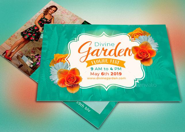 Divine Garden Invitation Template