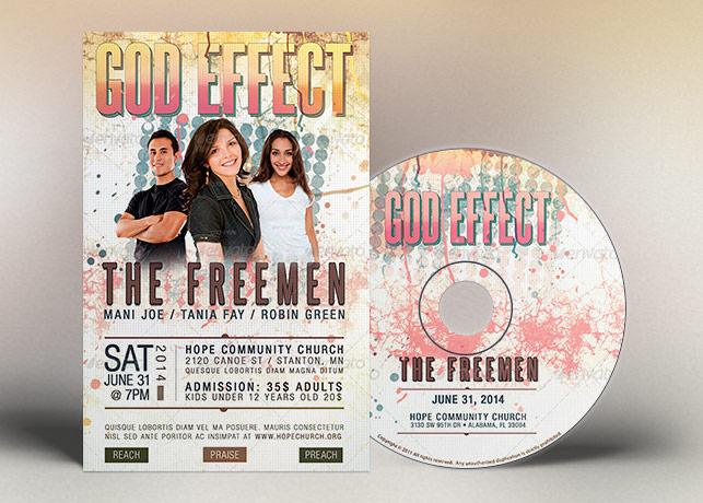 God Effect Church Concert Flyer CD Template