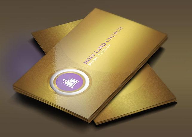 Gold Church Business Card Template
