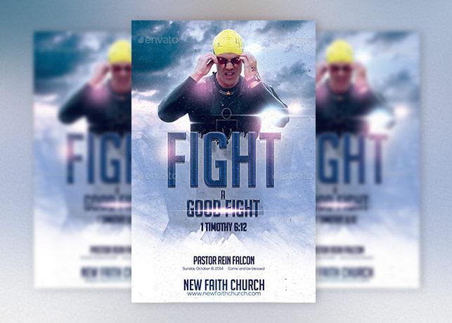 Good Fight Church Flyer Template