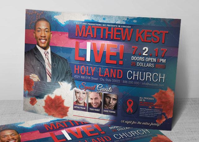 Gospel Concert Flyer Template